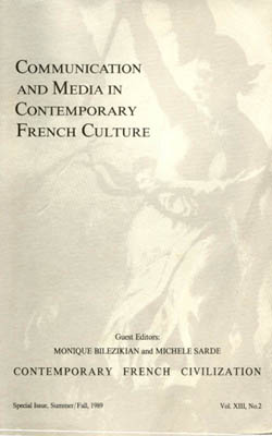 Communication and media in contemporary french culture